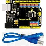 KEYESTUDIO Super UNO R3 ATmega328 マイコンボード for Arduino USBケーブル付き, アップグレード版 UNO R3 ATmega328P ATMEGA16U2 ボード