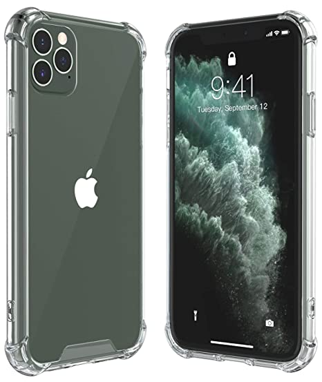ALOFOX for iPhone 11 Pro Max Case, Thin Slim Hybrid Case Hard PC with Soft TPU Bumper Anti-Scratch Protective Crystal Clear Case for iPhone 11 Pro Max ...