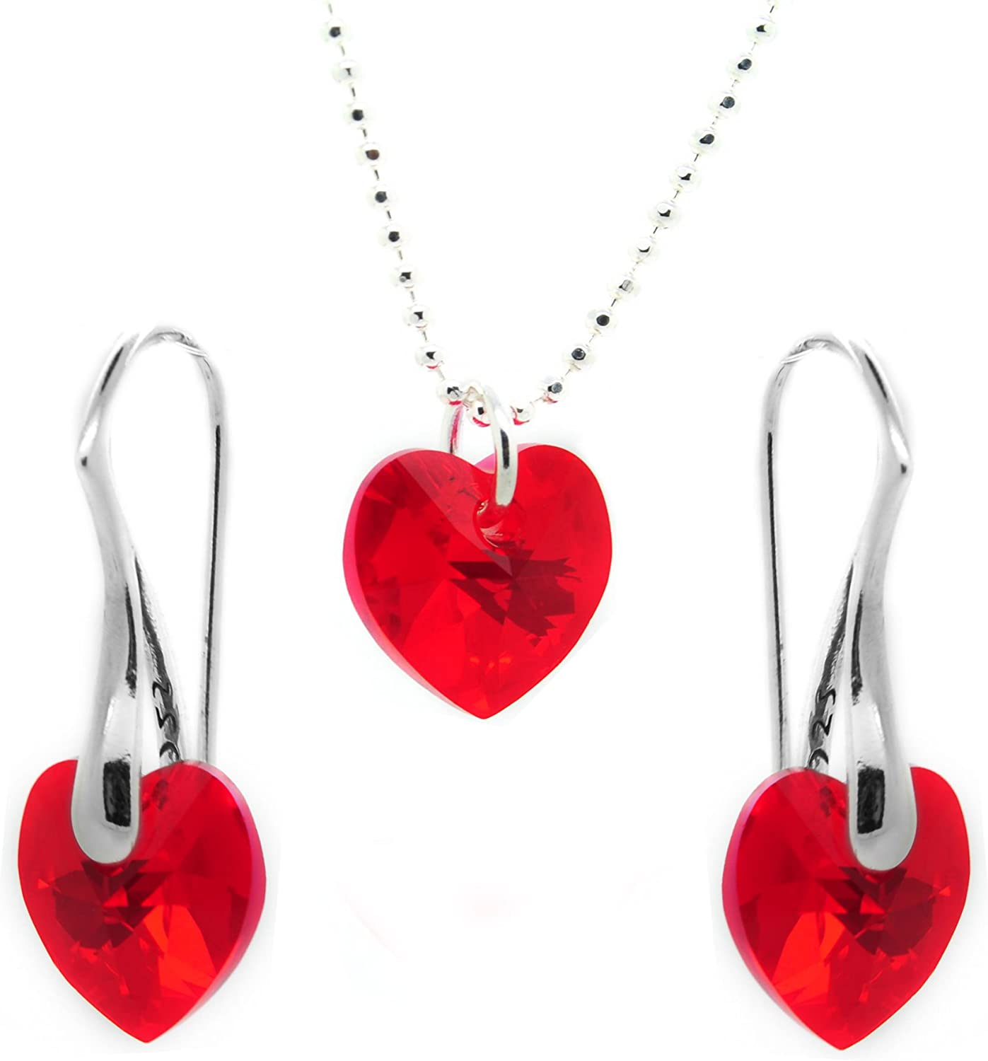 Mini 1 Sterling Silver Red Heart Enamel Red Tiny Heart
