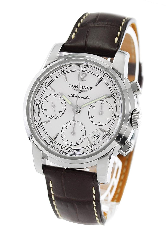 ロンジン サンティミエ クロノグラフ アリゲーターレザー 腕時計 メンズ LONGINES L2.753.4.72.0[並行輸入品] B01N03VCEK