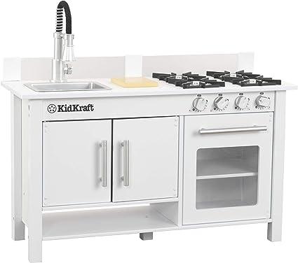 Amazon Com Kidkraft Little Cook S Work Station Kitchen White 53407 Toys Games