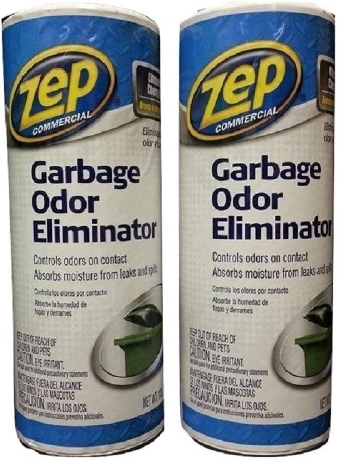 Zep Garbage Odor Eliminator 1 lb ZUGOE1 (Pack of 2) Great for Dumpsters, Garbage Cans and Compacters