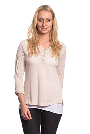 Abbino 8205-7 Langarmshirt Top Damen - Made in Italy - 6 Farben - Übergang