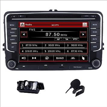 Reproductor de CD y DVD estéreo DAB+ Radio RDS Sat Naval Bluetooth Gps Navegación Pantalla Táctil Espejo para VW ...