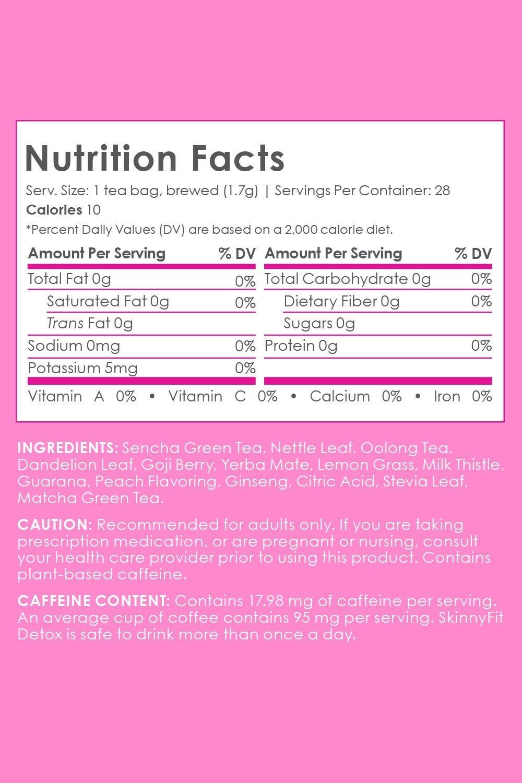 SkinnyFit Detox Tea: Cleanse w/All-Natural, Laxative-Free, Green Tea Leaves, Vegan, Gluten-Free, 28 Servings - Slimming Way to Release Toxins and Increase Energy w/Bonus Digital Welcome Guide by SkinnyFit (Image #5)