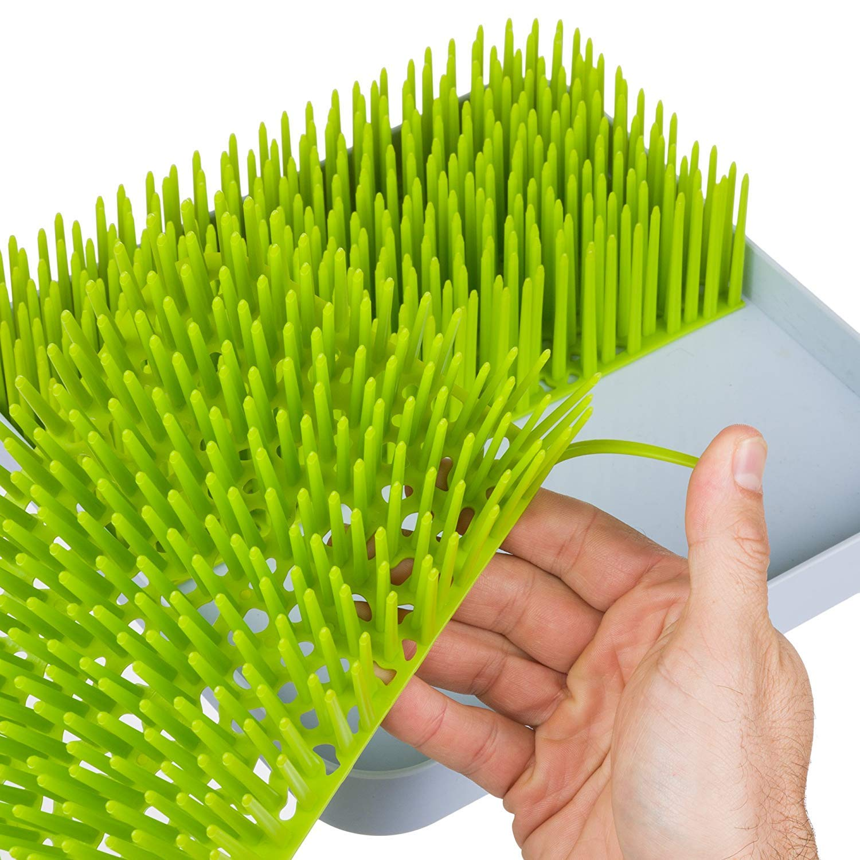 per asciugare l/'erba portaposate per bambini Toutou grande scolapiatti per biberon antibatterico capezzoli per piatti bicchieri