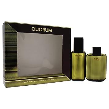 ea41faa1f2e61 Puig Quorum Eau De Toilette 100ml Spray with Aftershave Gift Set