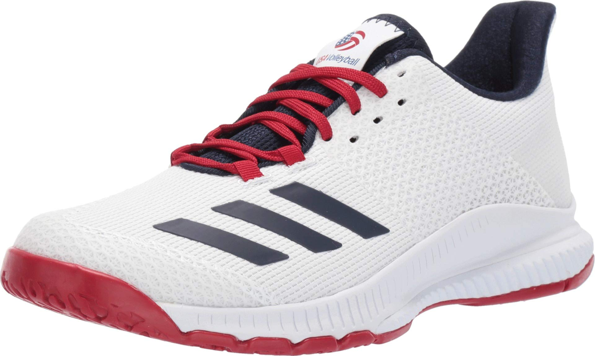 adidas Women's Crazyflight Bounce 3 Volleyball Shoe, White/Collegiate Navy/Power Red, 5 M US