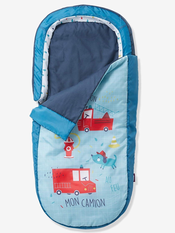 VERTBAUDET Saco de Dormir Readybed® con colchón Integrado Pin PON Pin Azul Claro Liso con Motivos Unica