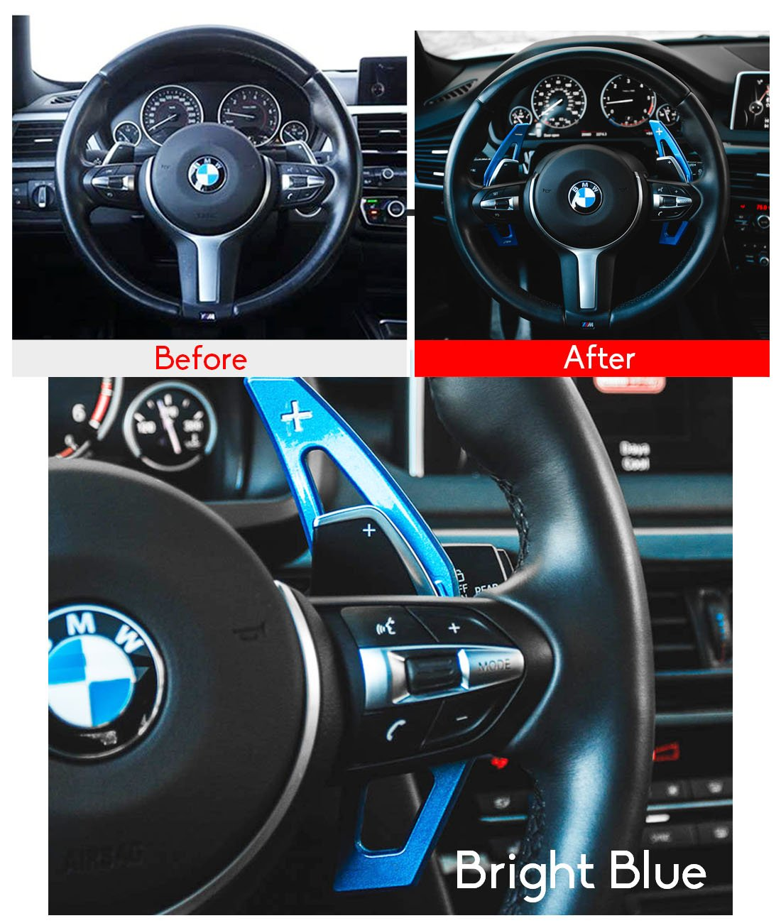 Fits: BMW 2 3 4 X1 X2 X3 X4 X5 X6 series,F Chassis -Silver For BMW Paddle Shifter Extensions,Jaronx Aluminum Metal Steering Wheel Paddle Shifter