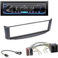 caraudio24 JVC KD-X351BT AUX USB Bluetooth MP3 Autoradio für Smart ForTwo 450 grau ohne Metallschacht