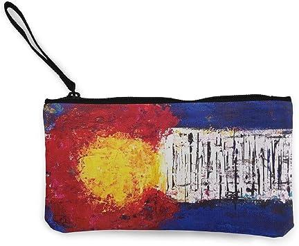 Cartera de Embrague de Pintura de Bandera de Colorado Pulsera para Mujeres niñas, Bolso de Embrague pequeño monederos Monedero de Mujer: Amazon.es: Equipaje