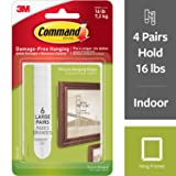 Command 16 lb Large White Picture Hanging Strips, 6