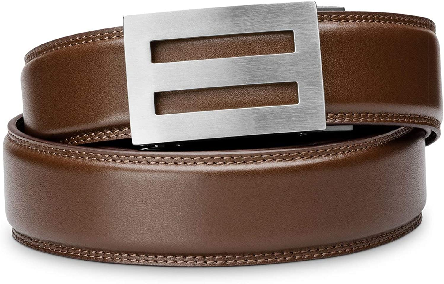 Kore Men S Full Grain Leather Track Belts Intrepid Stainless Steel Buckle At Amazon Men S Clothing Store Kore men's belts offer 40+ sizing positions to adjust with for a perfect fit. kore men s full grain leather track belts intrepid stainless steel buckle