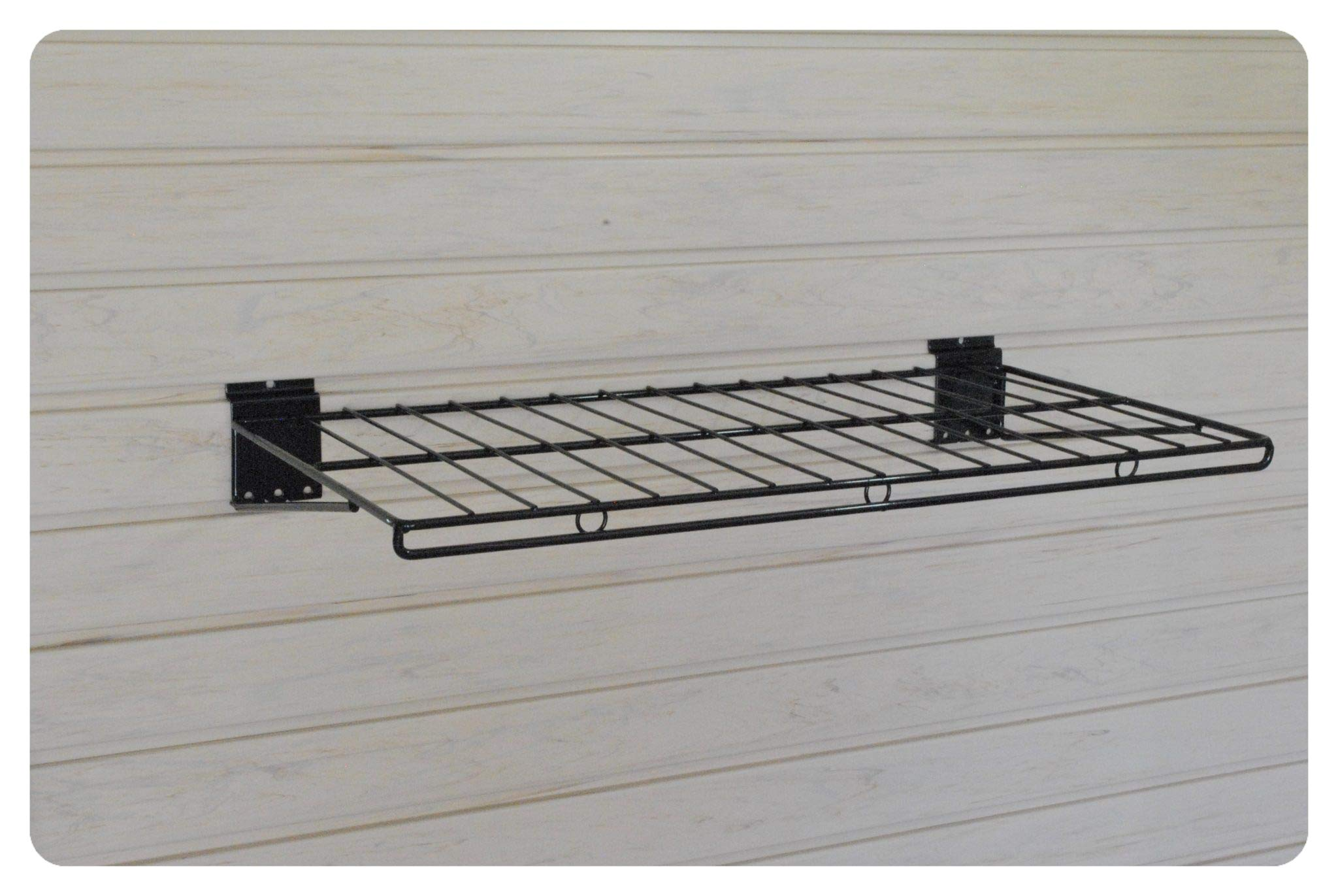 GaragePro 12'' x 24'' Ventilated Shelf for Slatwall Panels by The Garage Project