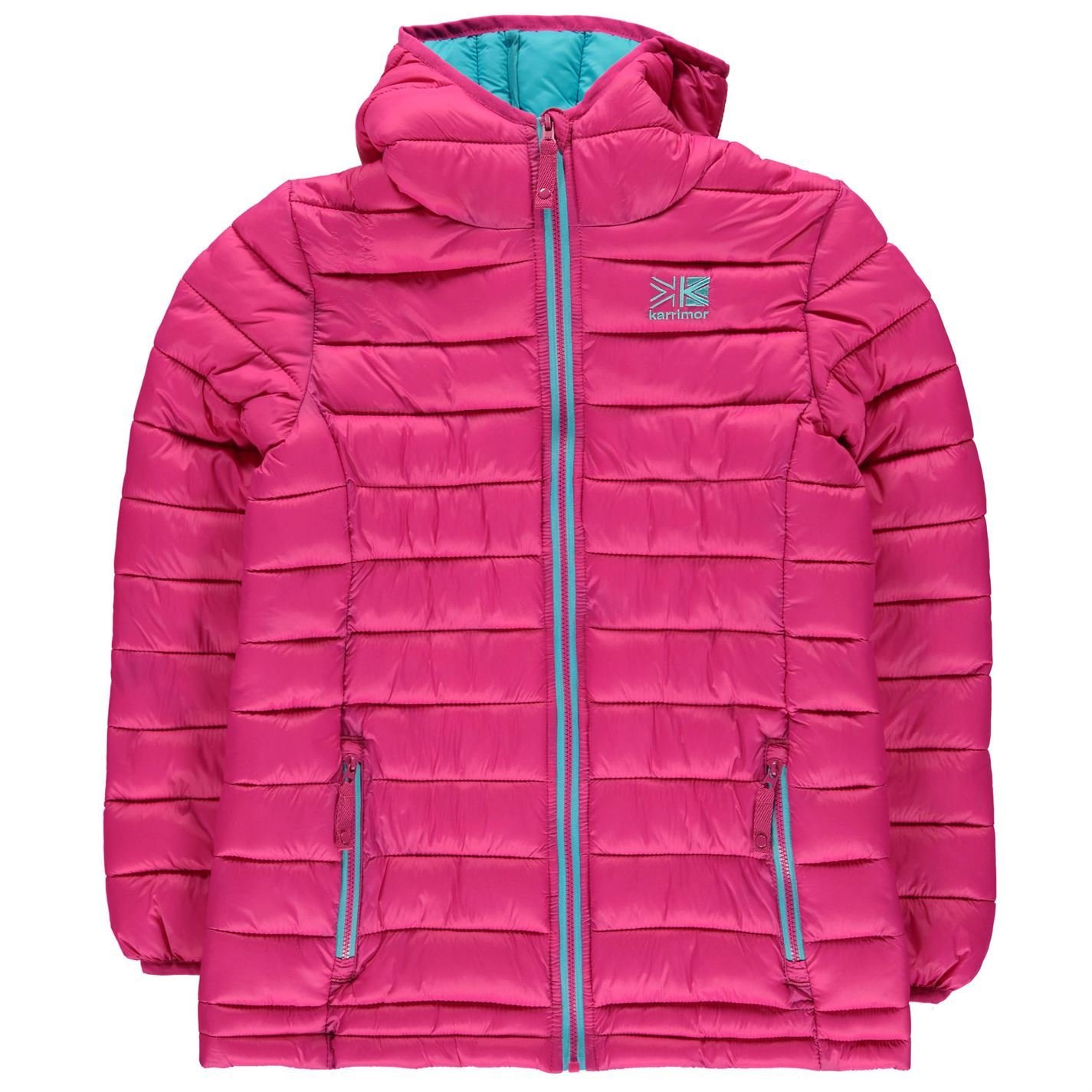 a4d24ee79 Karrimor Kids Hot Crag Insulated Jacket Junior Down Coat Top Long Sleeve  Chin Pink 11-12 (LG)