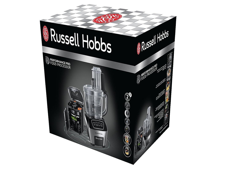 Russell Hobbs Performance Pro 22270-56-Robot de Cocina, función Pulse, Color, 800 W, Plástico, 3 Velocidades, Negro, Acero Inoxidable: Amazon.es: Hogar