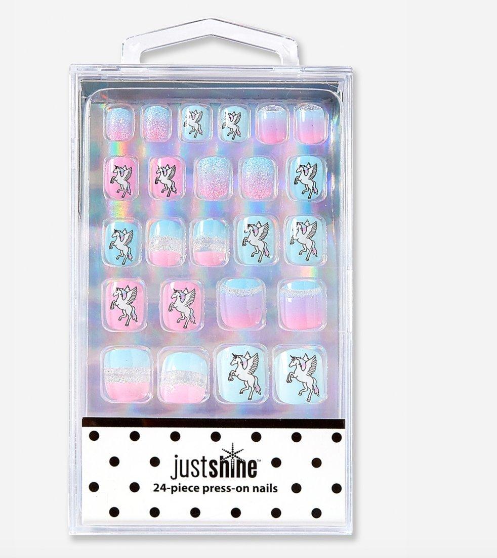 Amazon.com: Justice Girls Pastel Unicorn Press-on Nails: Beauty
