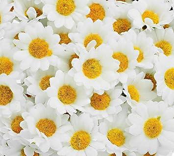 Demarkt 100 Kunstblumen Kunstliche Deko Blumen Ganseblumchen Fur