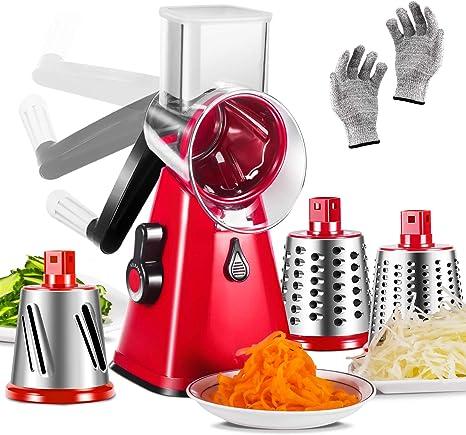 Cortador de Verduras de Cocina Cortador de Verduras de Tambor Multifuncional N//H Rallador de Queso Giratorio de Cocina