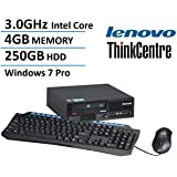Lenovo ThinkCentre M58P Ultra Small Form Factor Desktop (Intel Core 2 Duo E8400 3.0GHz, 4GB RAM, 250GB HDD, DVD, Windows 10 Professional) (Certified Refurbished)