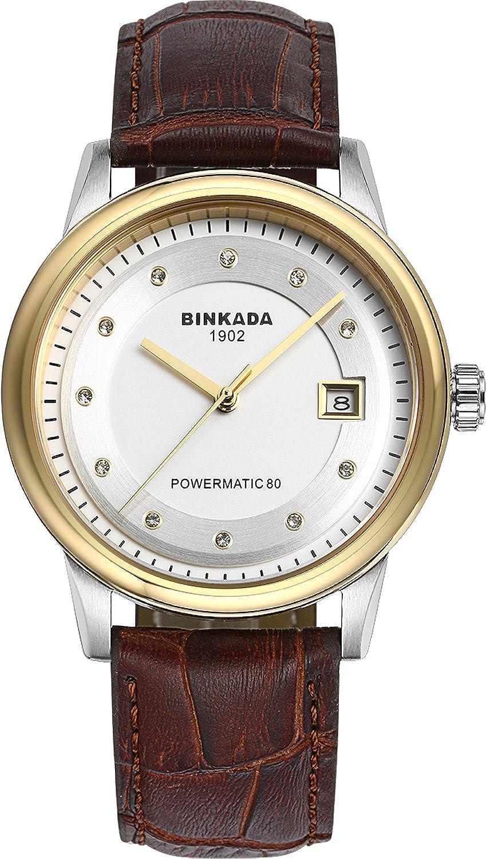 BINKADA 3ポインタ自動機械ホワイトダイヤルメンズ腕時計# 708902 – 3 B01DZLUCZI