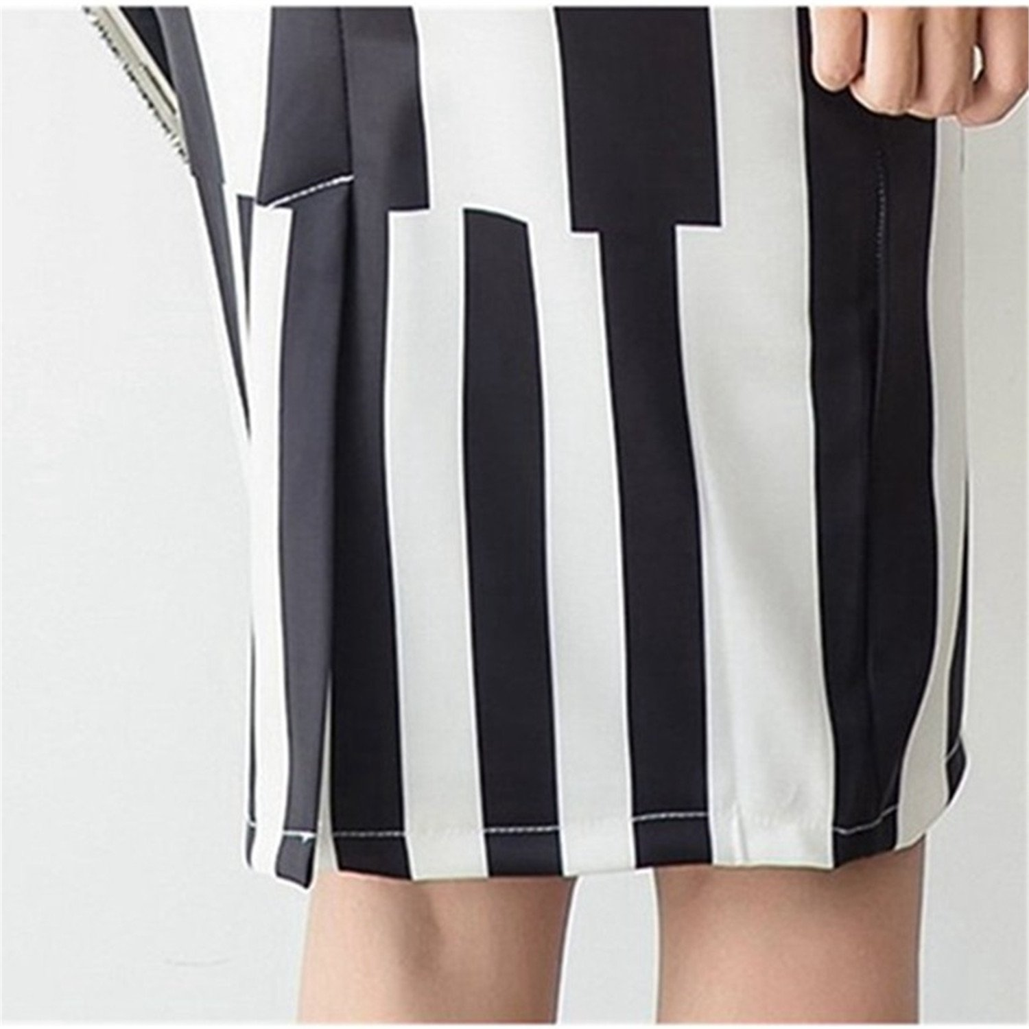 d480a2ed9389 Nice S-3XL Womens Striped Skirts Winter Sexy High Waist Skirt Office Ladies  Elastic Summer Print Pencil Skirts Plus Size at Amazon Women's Clothing  store: