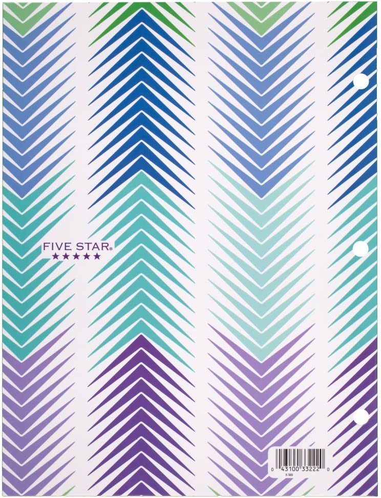 9 3//8 x 12 x 1//8 -inches Five Star 4-Pocket Folder 33222 Design May Vary