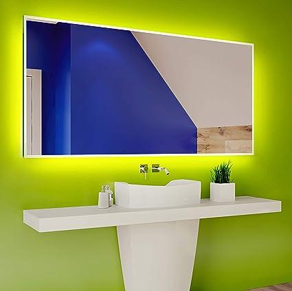 FORAM Moderne Miroir avec LED Illumination Salle de Bain avec Accessoires sur Mesure LED Lumineux Miroir avec /Éclairage int/égr/é L80