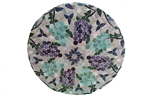 Amazon Com Mosaic Table Cloth Round 36 To 48 Elastic Edge Fitted