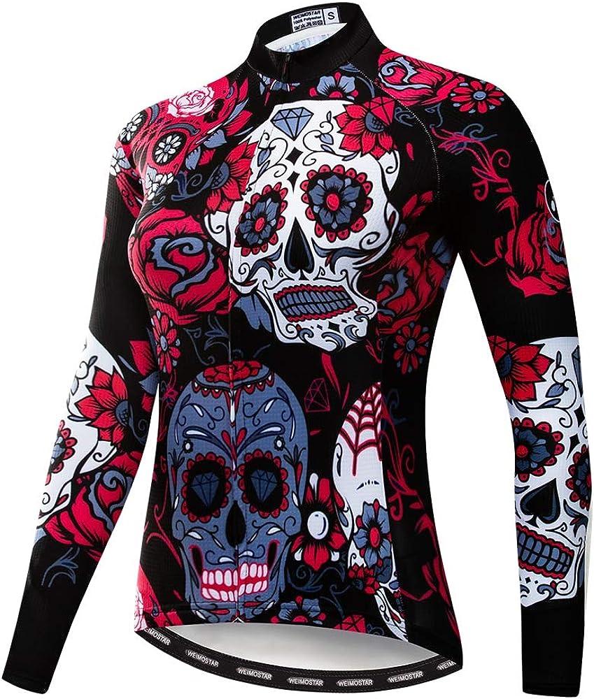 Women Long Sleeve Cycling Jersey MTB Shirts Mountain Bike Tops Bicycle Clothing
