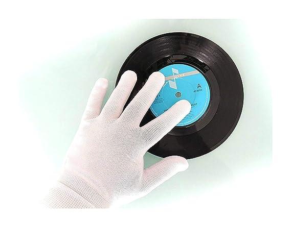 Clear Groove guantes de limpieza de vinilos y CD, de precisión (2 pares), antiestático, sin pelusa: Amazon.es: Electrónica
