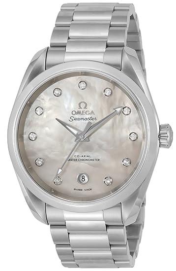 Omega Seamaster Aqua Terra - Reloj de pulsera automático con cronómetro y diamante para mujer