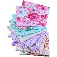 Shuan Shuo New Flower Series Cotton Fabric Quilting Patchwork Fabric Fat Quarter Bundles Fabric For Sewing DIY Crafts Handmade Bags Pillows 40X50cm 9pcs/lot