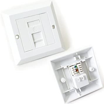 Single port cat6 idc wall outlet face plate 1 way rj45 network single port cat6 idc wall outlet face plate 1 way rj45 network ethernet socket cheapraybanclubmaster Choice Image