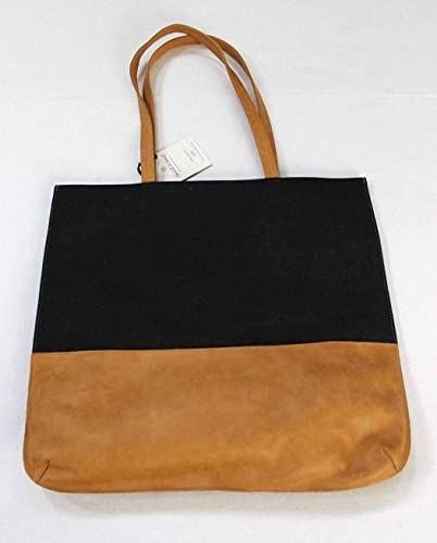 61be31caad8 Amazon.com  Hearth and Hand with Magnolia Canvas and Leather Tote ...