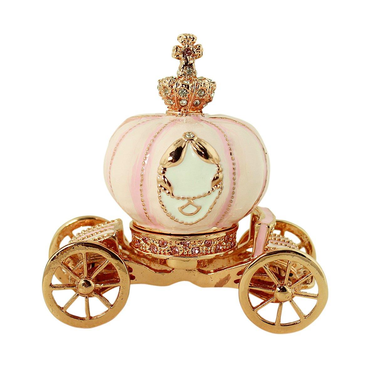 Amazon.com: Cinderella Story Pumpkin Carriage Trinket Box with ...