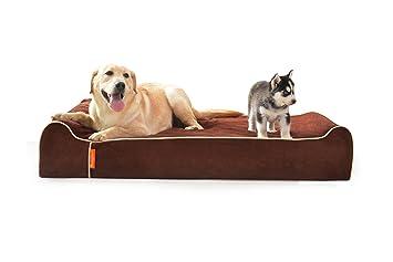 LaiFug Extra Large Espuma ortopédica con memoria para mascotas / cama para perros, 128ⅹ92ⅹ24,