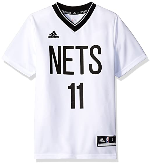 buy popular 77e1c 9e562 Amazon.com: Brook Lopez Brooklyn Nets White Adidas Kids ...