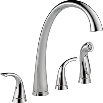 Delta Faucet 2480-Dst Pillar Two Handle Widespread Kitchen Faucet