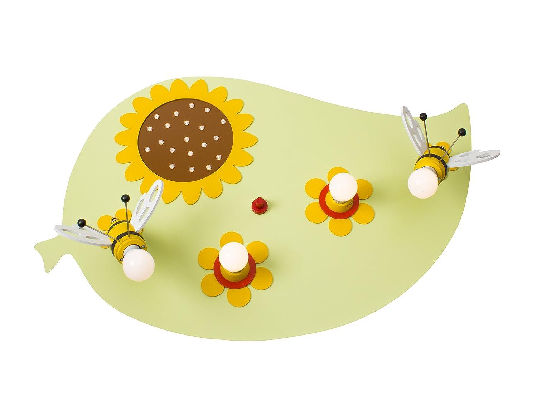 Deckenleuchte Blatt Biene lindgrün incl. 20 LED`S warmweiß 136041