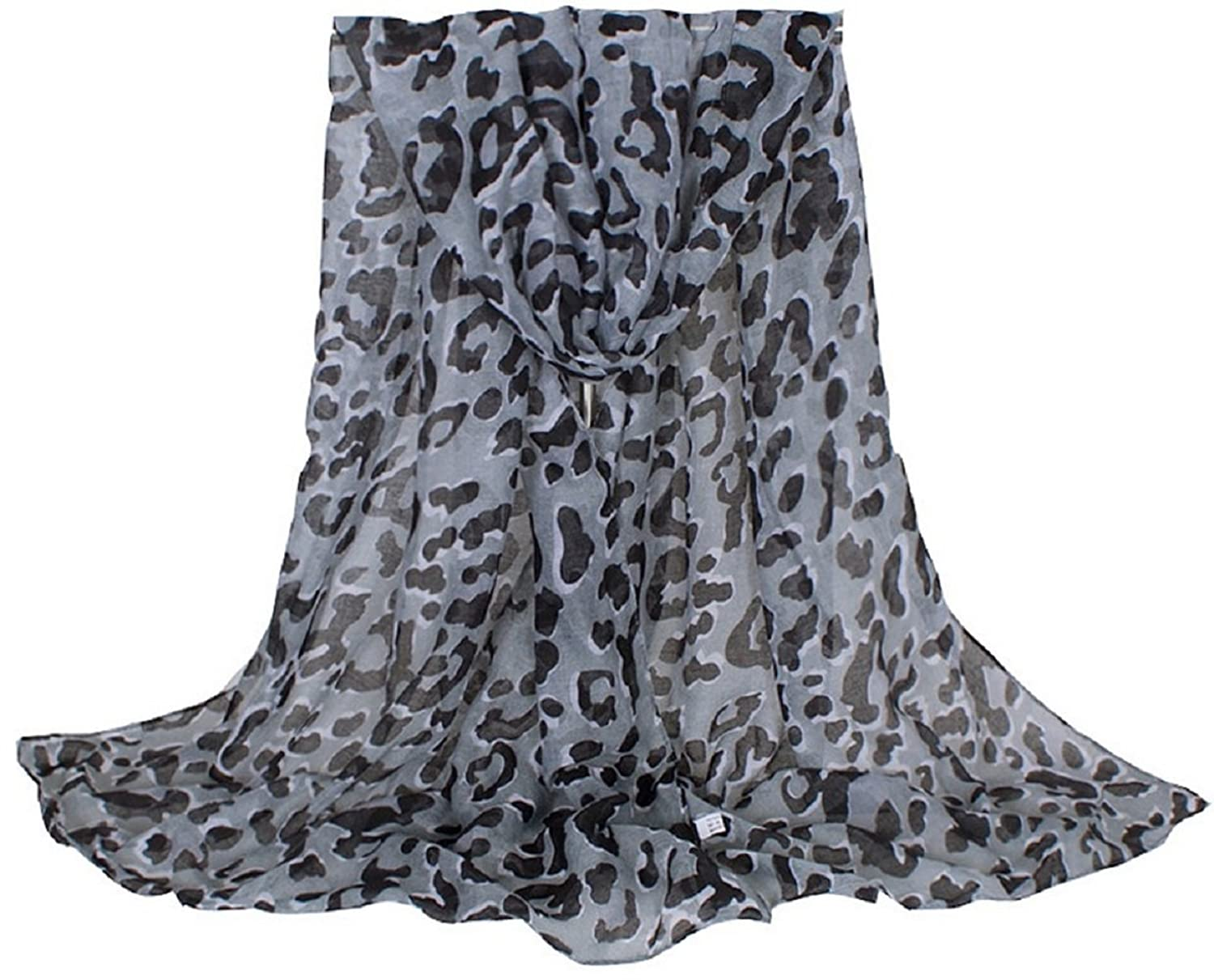 Bettyhome Fashion Girls Sexy Leopard Print Voile Women's Large Beach Scarf Shawl Lightweight