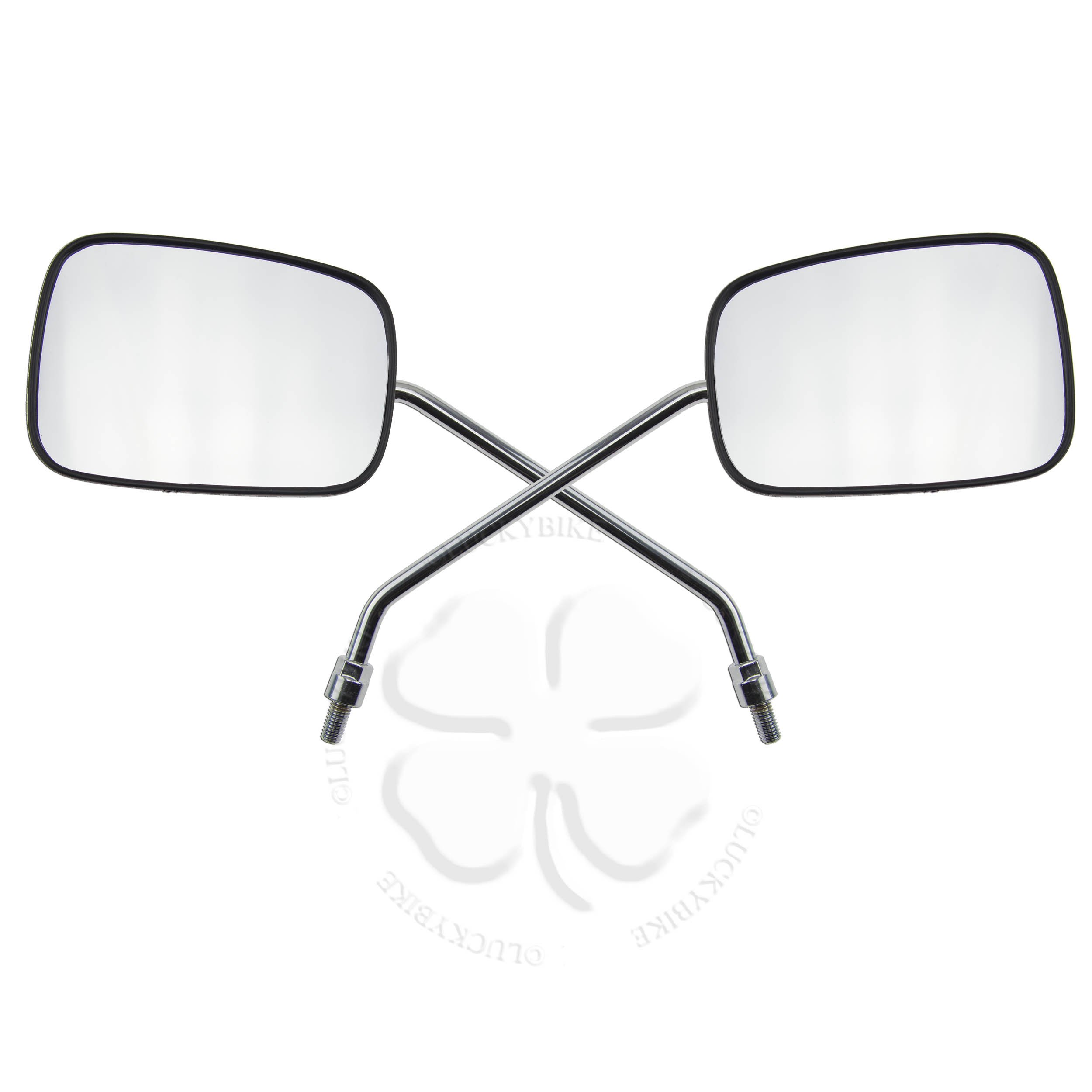 Mirrors - Universal - Left/Right Set - Right Hand Thread - 8mm Mounting - Black