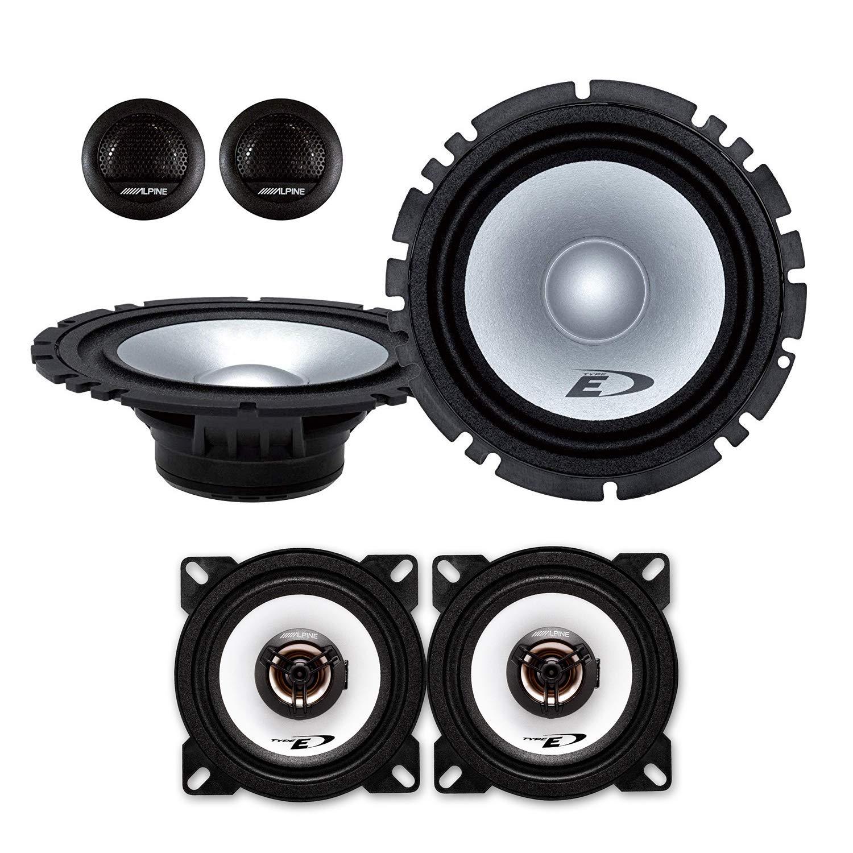 Alpine Front//Heck 16,5cm//10cm Auto Lautsprecher//Boxen//Speaker Komplett-Set kompatibel f/ür FIAT