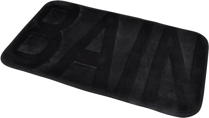 douceur dint/érieur tapis de bain 50x85 cm eponge vitamine noir