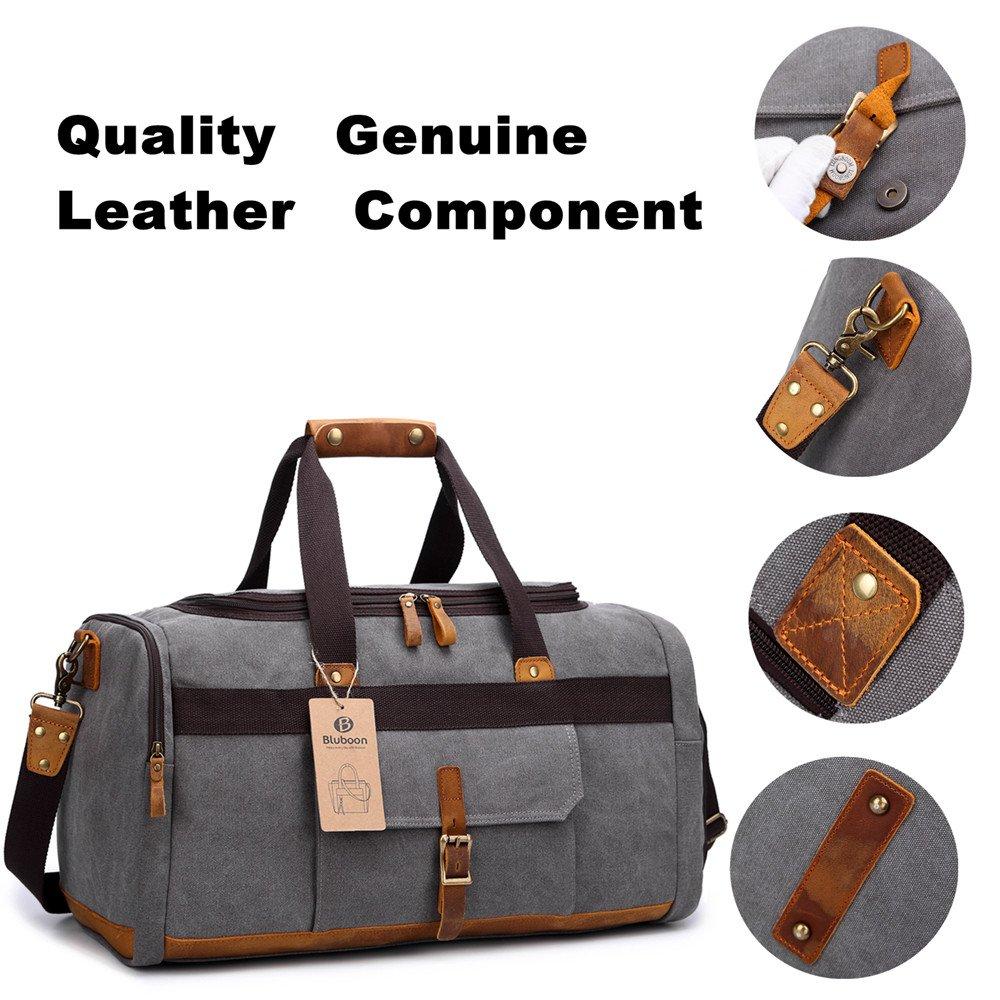 BLUBOON Canvas Travel Bag Unisex 44L  Amazon.co.uk  Luggage 1ac0b453c5