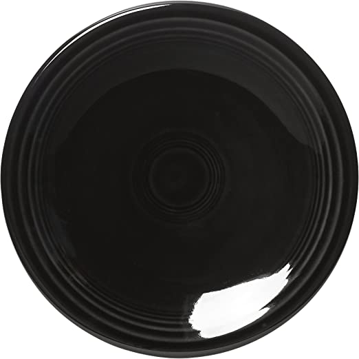 BLACK FIESTA WARE BREAD PLATE HOMER LAUGHLIN