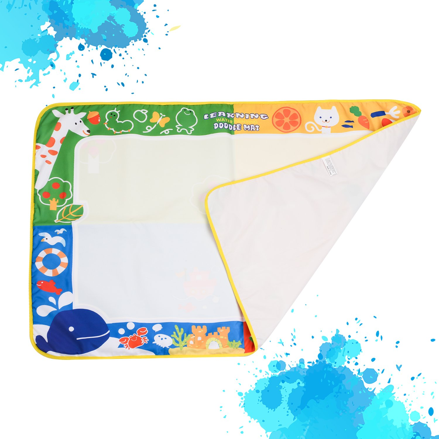 citymama Drawing Mat Doodle Magic mat water Drawing & writing Mat painting board 4 Colors with 3 Magic Drawing Pens and 15 Molds Kids Educational Toy Mat Gift for Children XL Size 40'' x 28'' by citymama (Image #7)