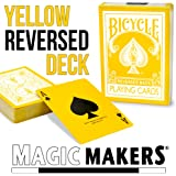Magic Makers The Yellow Deck - Bicycle Playing Cards With Magic Tricks - 2Nd Generation