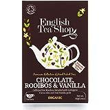 English Tea Shop Organic Rooibos Chocolate Vanilla - 20 Paper Tea bag Sachets (Pack of 3)